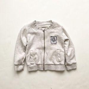 Imps & Elf's gray zip up sweatshirt EUC 98(3T)